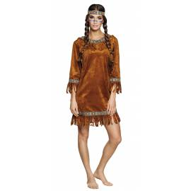 Costume adulte d'indienne