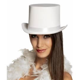 Chapeau blanc haut de forme pour adulte