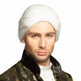 Perruque Rococo cheveux de couleur blanche pour homme