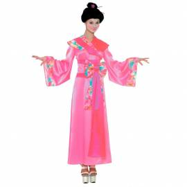 Déguisement de geisha rose adulte