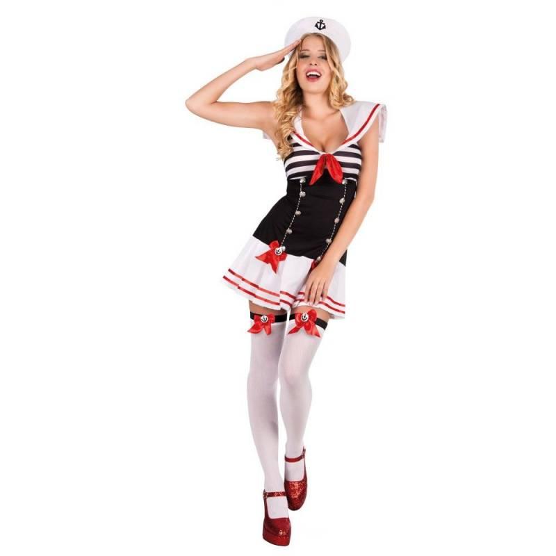Déguisement adulte sexy de femme en uniforme de marin