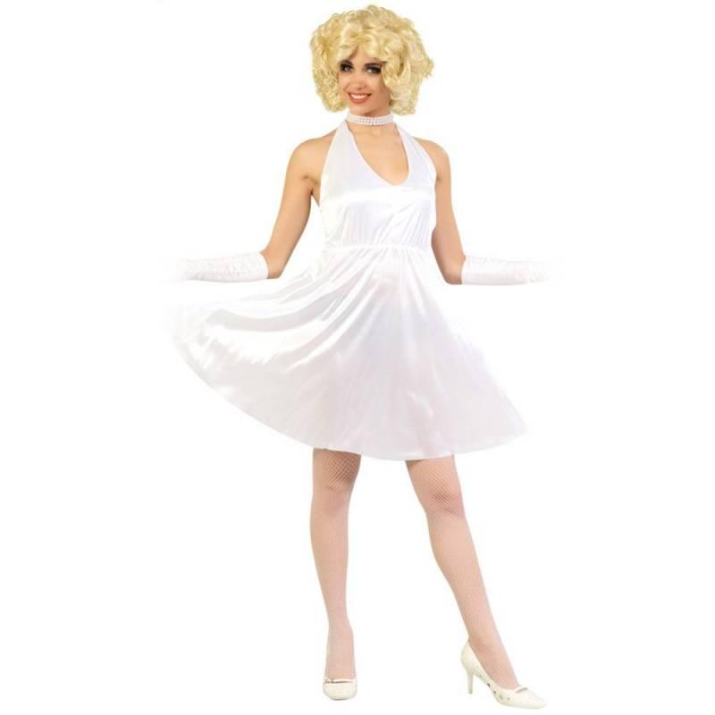 Robe blanche satinée