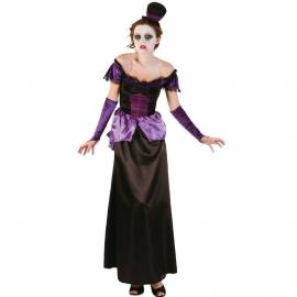 Déguisement de vampire avec robe noire et violette adulte