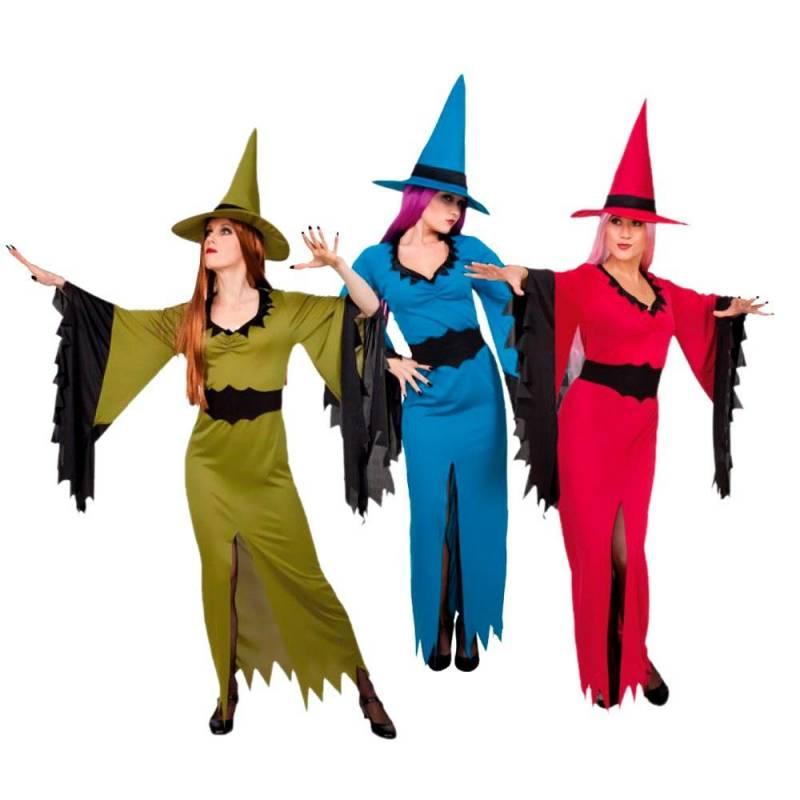 Déguisement adulte de sorcières de couleurs