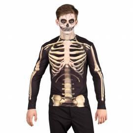 T-Shirt adulte de faux squelette