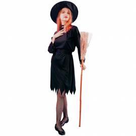 Déguisement de sorcière de couleur noire pour adulte