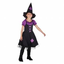 Déguisement enfant de sorcière noir et violet