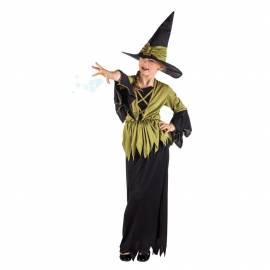 Déguisement enfant de sorcière noir et kaki