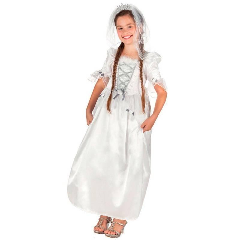 Déguisement enfant de princesse avec robe blanche