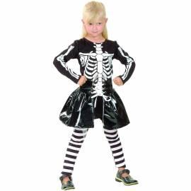 Déguisement enfant de squelette fille