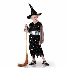 Déguisement enfant de sorcière noire avec motif araignées