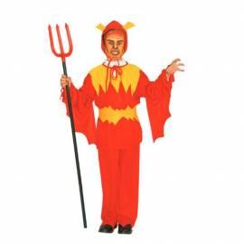 Déguisement enfant de diable rouge et jaune