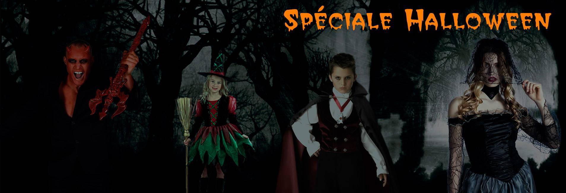 Sélection spéciale pour Halloween (déguisements, accessoires, maquillages, masques, ...)