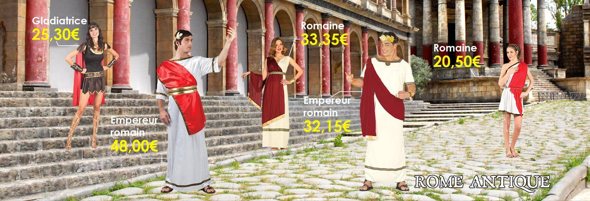 Déguisements de la Rome Antique